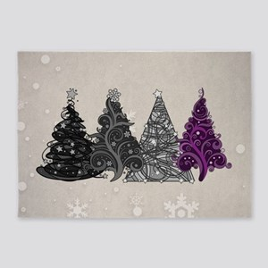 Asexual Christmas Trees 5'x7'Area Rug